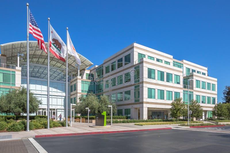 Apple HQ Cupertino arkivbilder