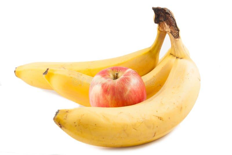 Apple i banan obraz stock