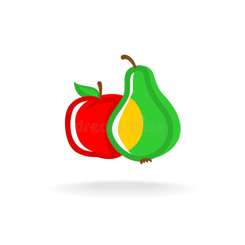 Apple i bonkreta logo ilustracji