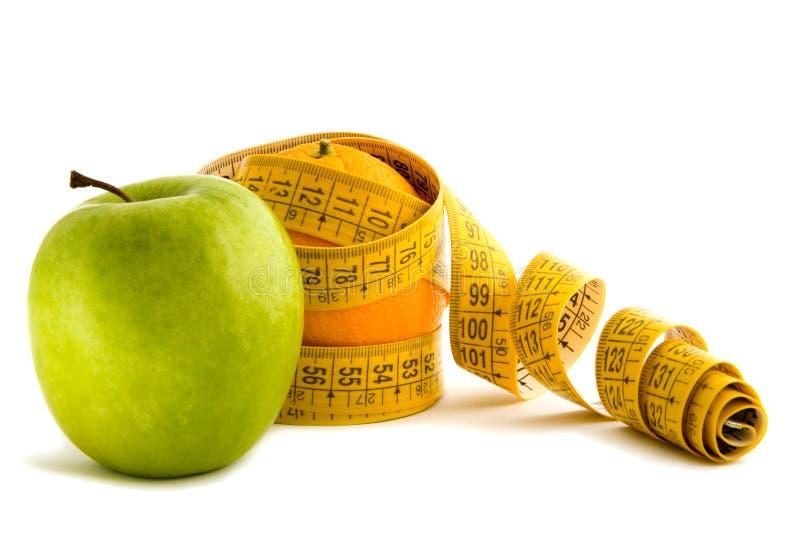 Apple i dieting pomarańcze zdjęcie royalty free