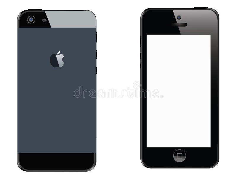 Apple I rufen Abbildung 5 an vektor abbildung