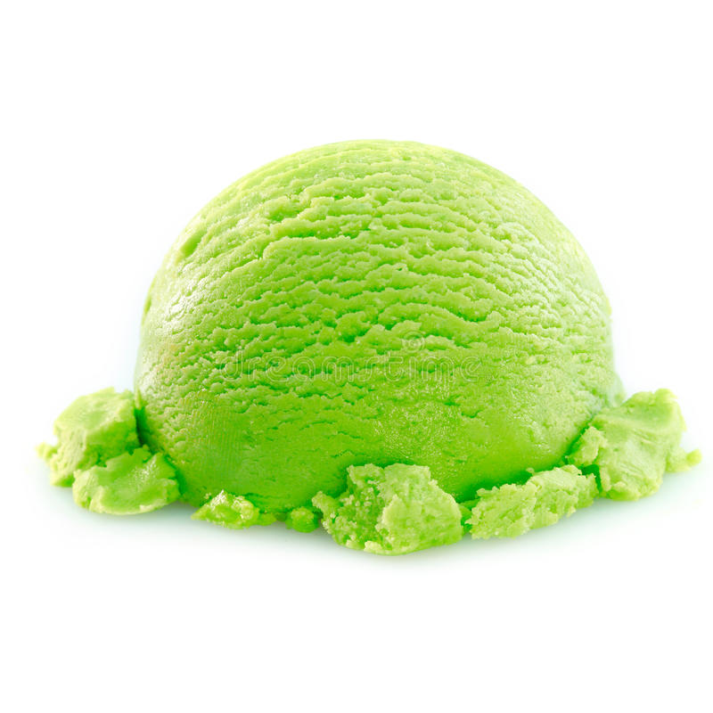 Apple icecream scoop royalty free stock images