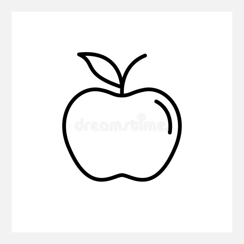 Apple icon. Outline vector apple icon isolated on white vector illustration