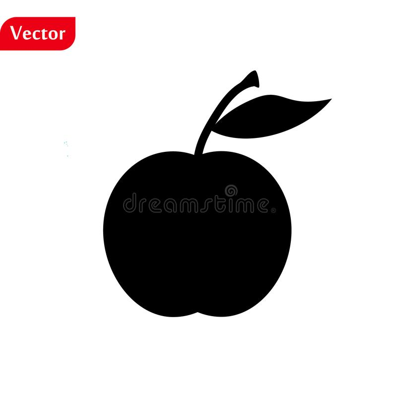 Apple Icon in trendy flat style isolated on grey background. Apple Icon page symbol for your web site design Apple Icon logo, app royalty free stock photography