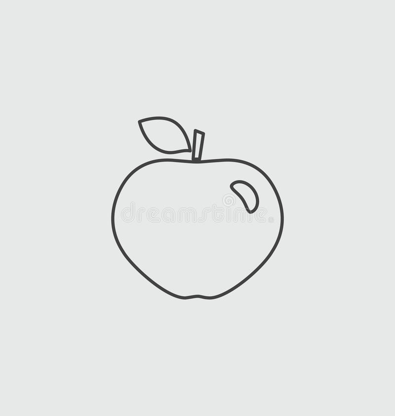 Apple illustration icon. Apple vector sign illustration icon stock illustration