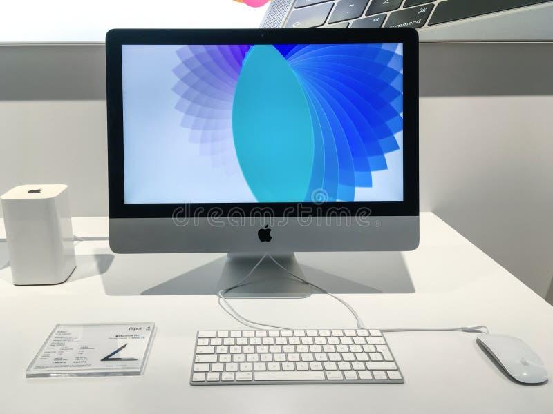 Apple iMac voor verkoop stock foto