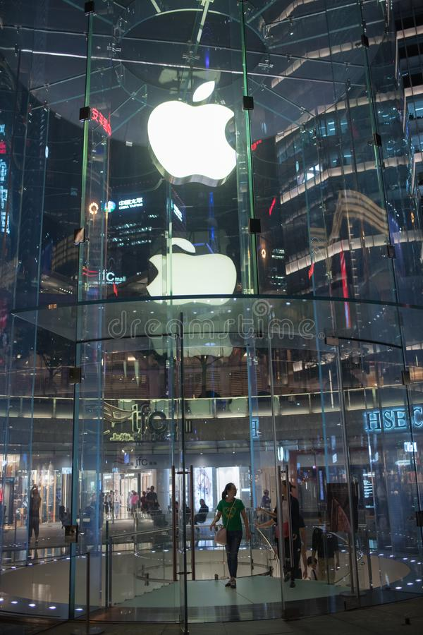 Apple, Inc. Speicher in Shanghai, China lizenzfreies stockfoto