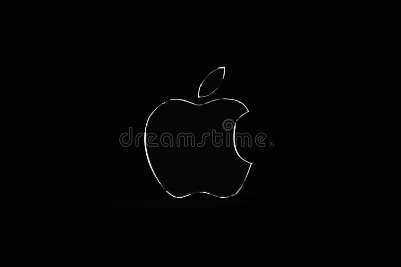 Apple Logo Wallpaper Dark Background Editorial Photography Illustration Of Creative Fight 143126387