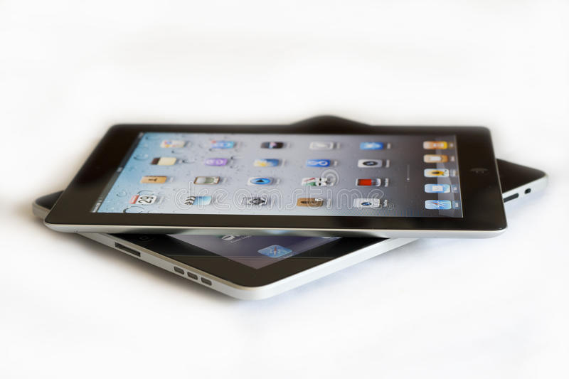 Apple Ipad 2 contre Ipad 1 image stock