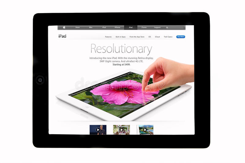 Download Apple ipad editorial stock photo. Image of crystal, finger - 24122908