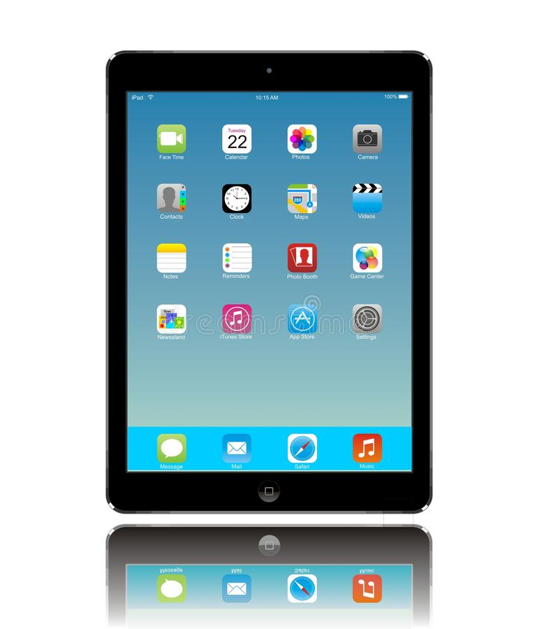 Apple iPad Air royalty free illustration