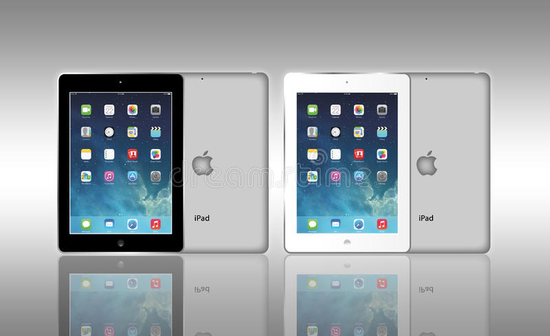 Apple iPad air. The new iconic Apple iPad Air is so thin and light and and is the most powerful and capable model yet produced. With the A7 chip, advanced vector illustration