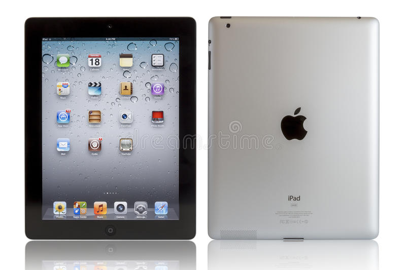 Apple iPad with clipping paths. Wi-Fi + 4G iPad 3 with iOS 5.1 by Apple Inc, the third generation iPad was released for sale by Apple Inc on March 16, 2012. The stock image