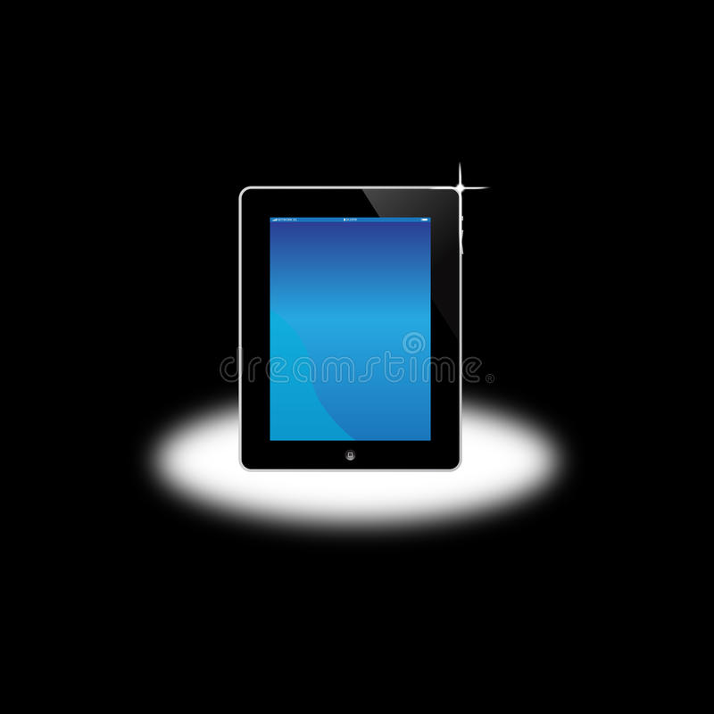 Apple Ipad Computer Screen royalty free illustration
