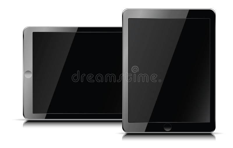 Apple iPad computer tablet royalty free illustration
