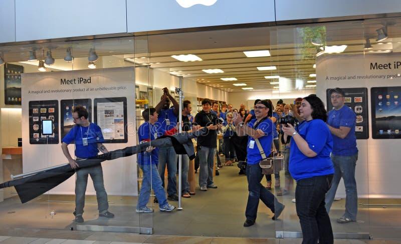 Apple Ipad Launch royalty free stock photography