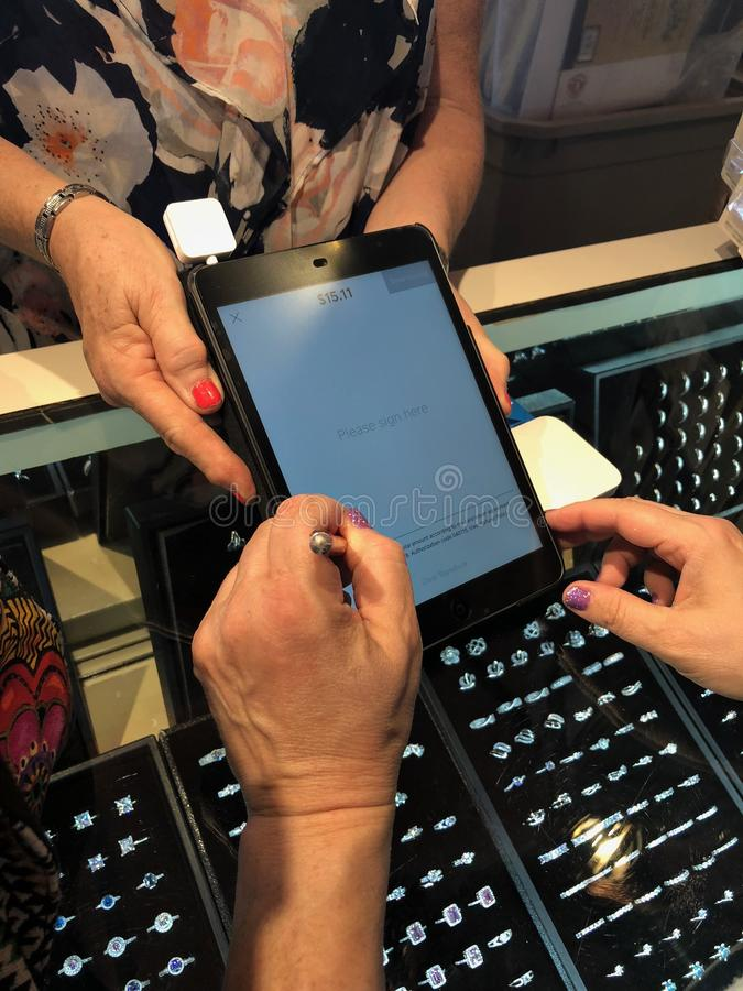Apple Ipad tablet royaltyfri fotografi