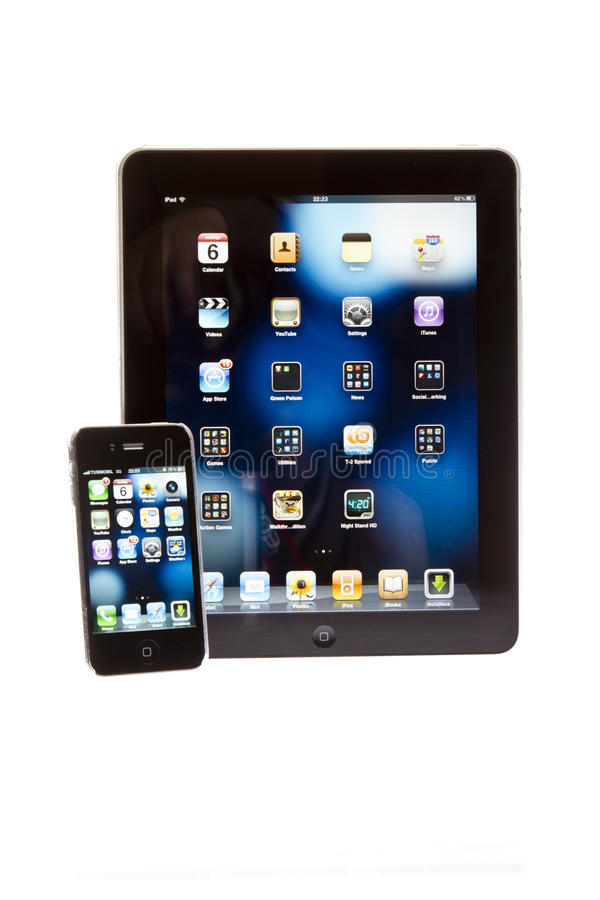 Apple ipad tablet PC with iPhone royalty free stock images