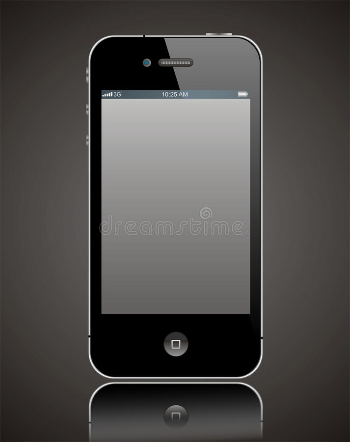 Apple iPhone 4 stock illustration
