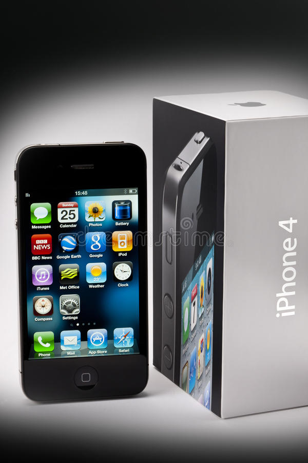 Download Apple iphone 4 and Box editorial photography. Image of android - 21303882