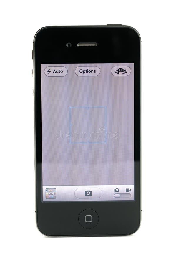 Apple iPhone 4s照相机屏幕 图库摄影