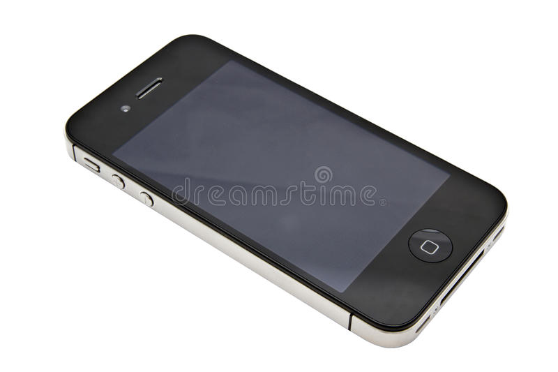 Apple iPhone 4s. Closeup on white background stock image