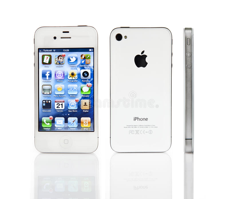 Apple iPhone 4s 免版税图库摄影