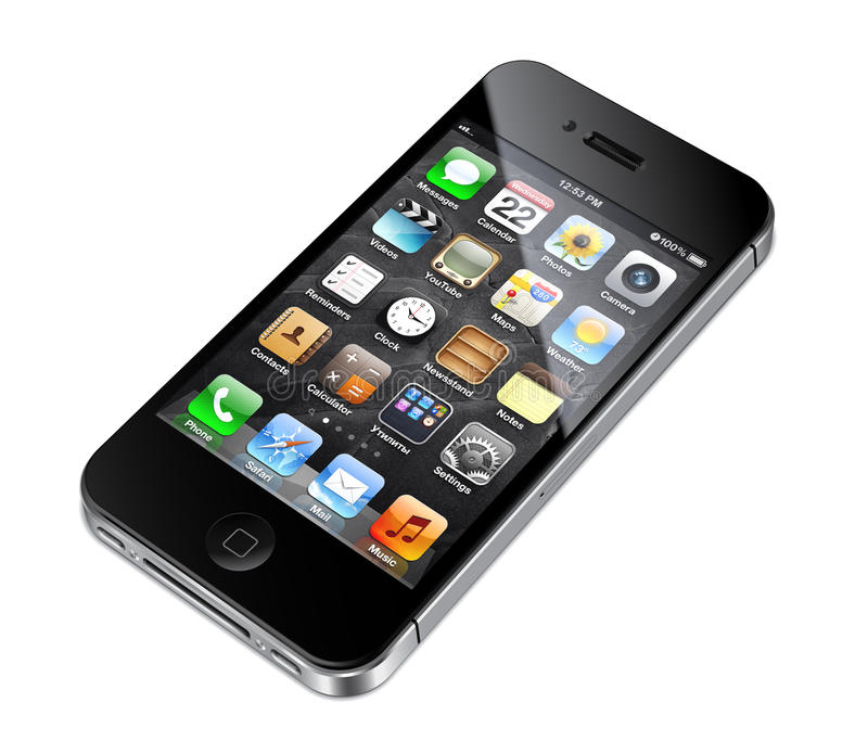 Apple iphone 4S illustration royalty free stock photos