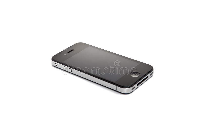 Apple Iphone 4S no fundo branco imagem de stock royalty free
