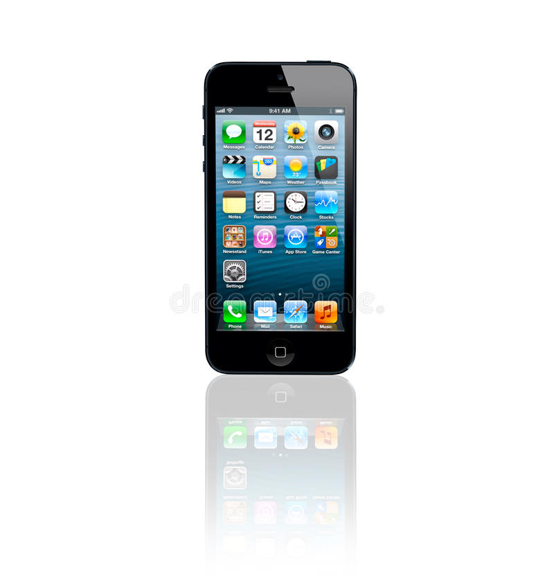 Download Apple iPhone 5 editorial stock image. Image of mobile - 26906434