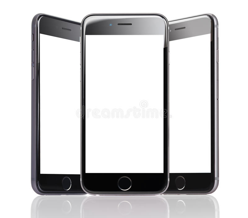 apple iphone 6 with blank screens editorial stock photo. Black Bedroom Furniture Sets. Home Design Ideas