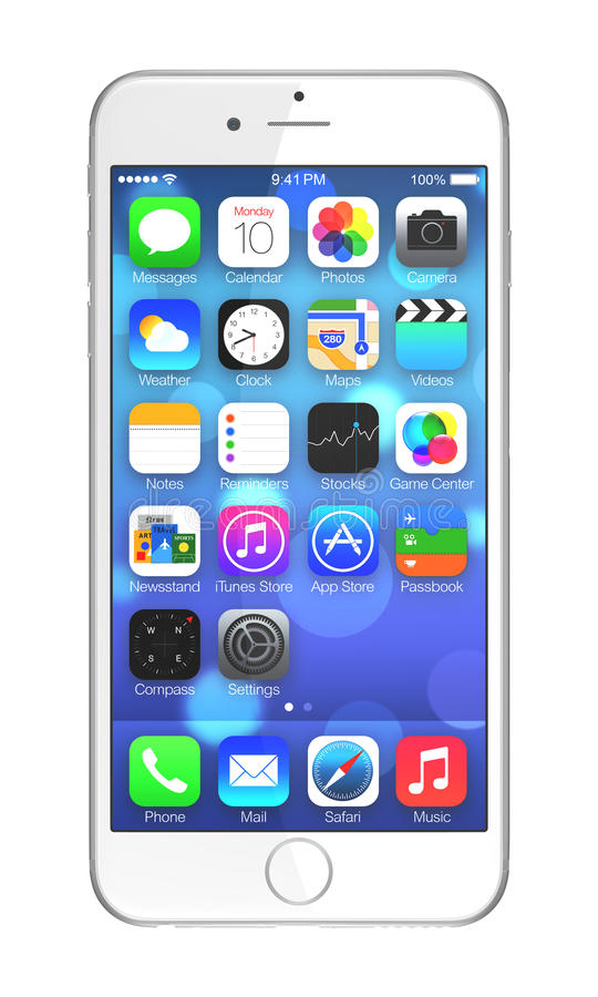 Apple iPhone 6 Plus stock illustration