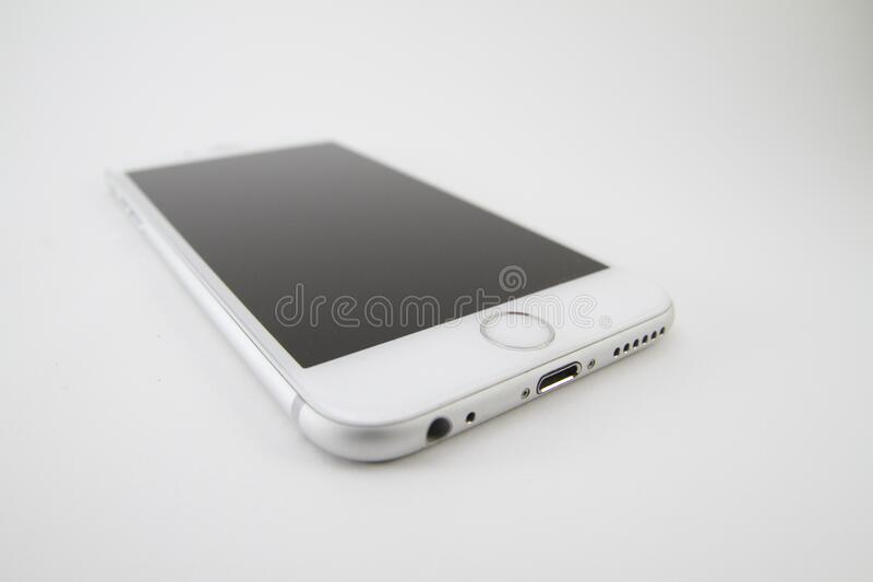 Apple iPhone 6 Silver royalty free stock photography
