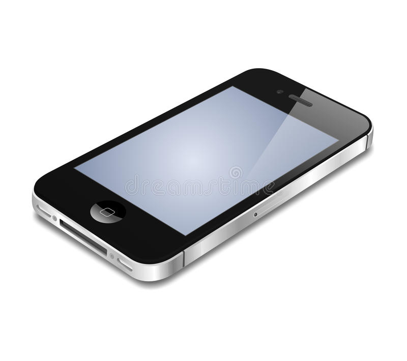Apple iphone - vector royalty free stock photo