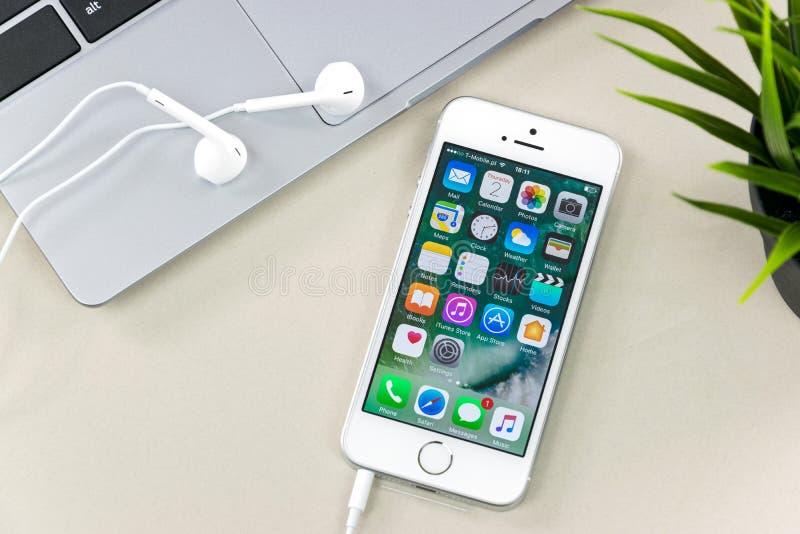Apple-iPhonese royalty-vrije stock foto's