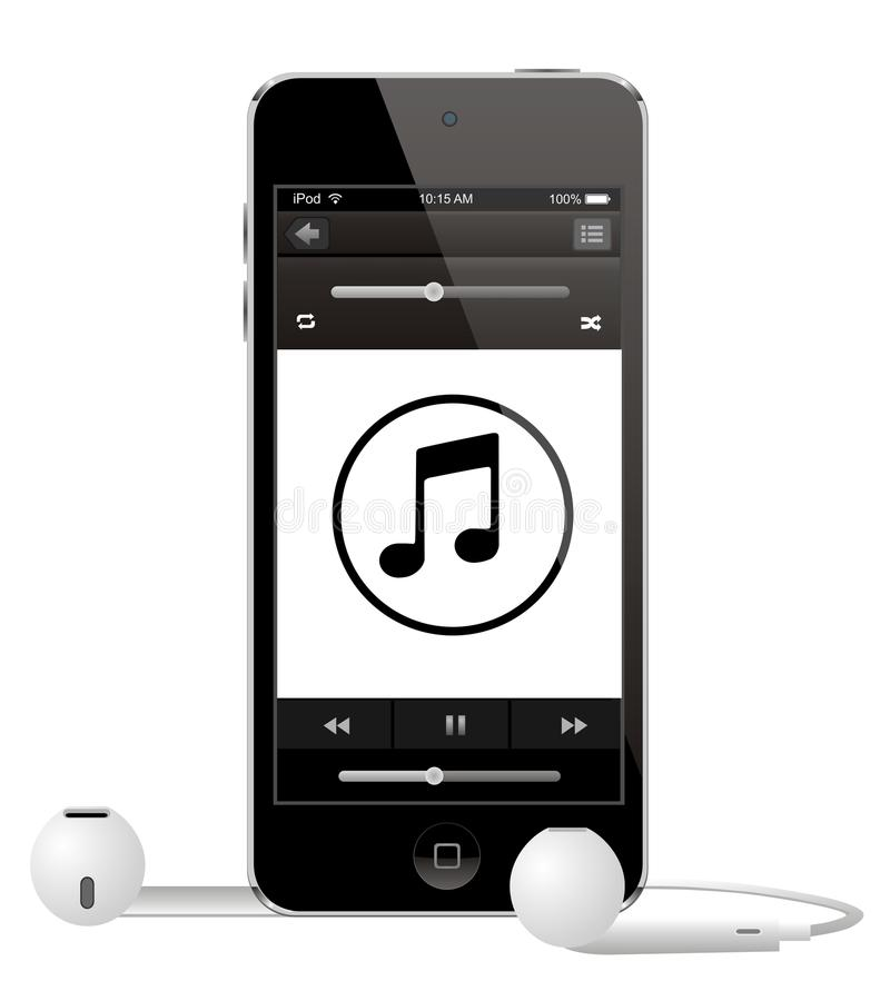 Apple IPod handlag stock illustrationer