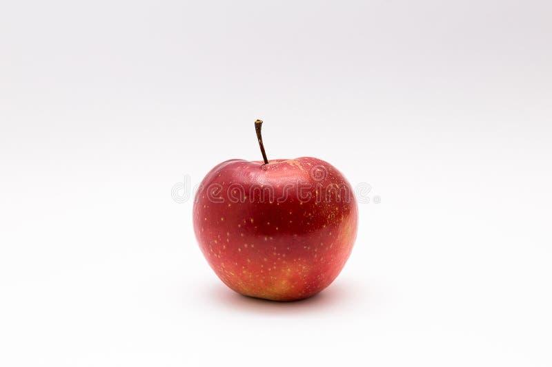 Apple isolerade på nytt sunt för vit bakgrundsfrukt arkivbild