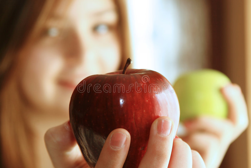 Apple ist gut stockfotografie