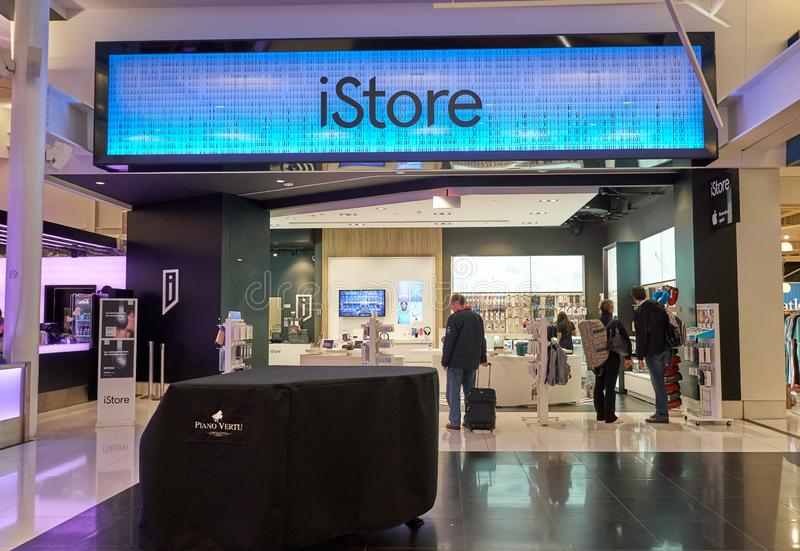 Apple Istore entrance stock images