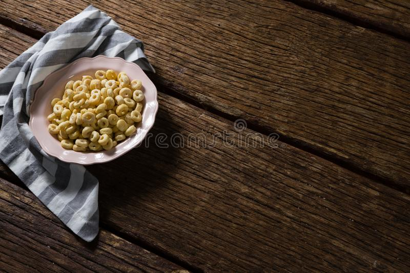 Apple jack in plate with napkin stock photography