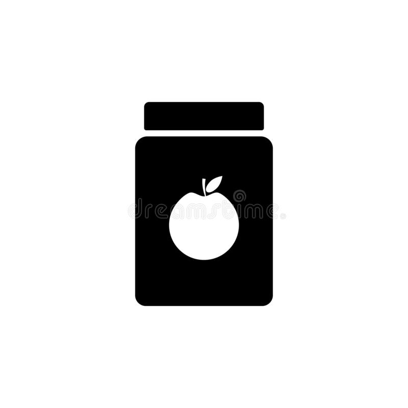Apple, apple jam, can icon. Simple glyph vector element of Food icons set for UI and UX, website or mobile application. On white background vector illustration