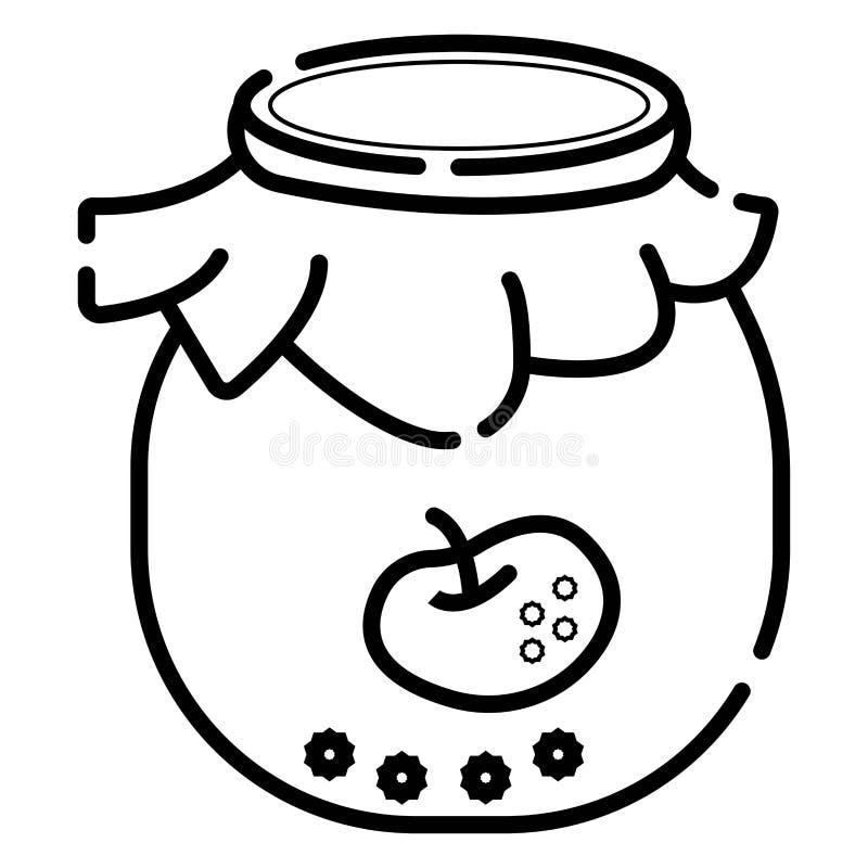 Apple jam jar icon vector. Illustration vector illustration