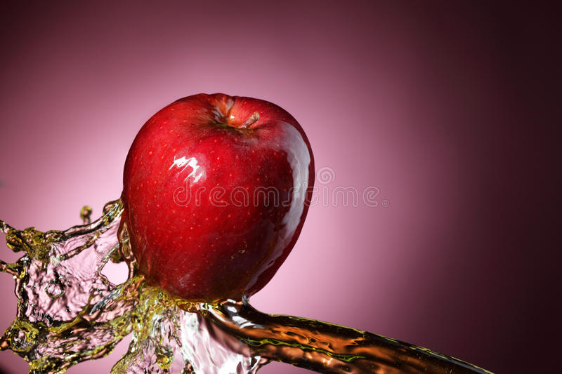 Download Apple in juice stock image. Image of fruits, falling - 20013151