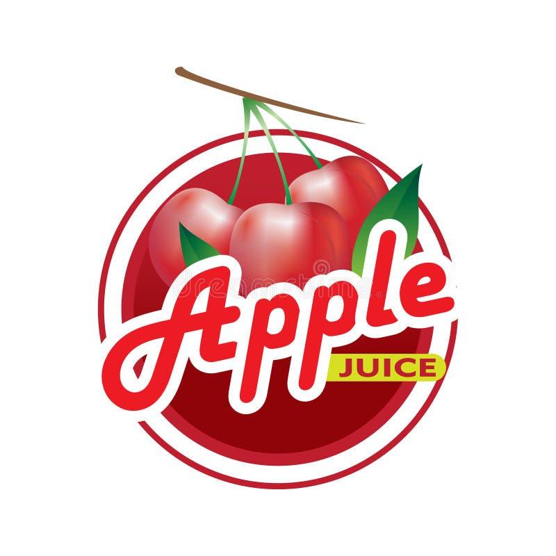 Apple Juice Logo vektor abbildung