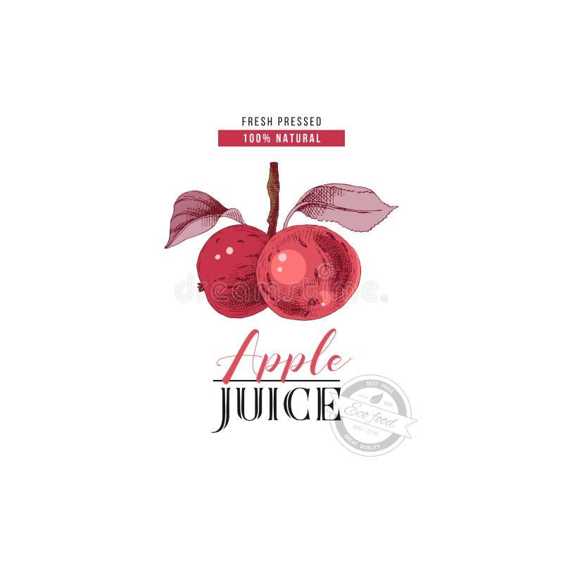 Apple juice logo template vector illustration