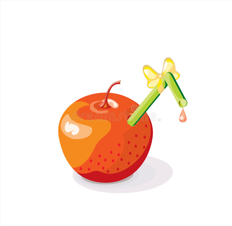 Apple juice (vector) vector illustration