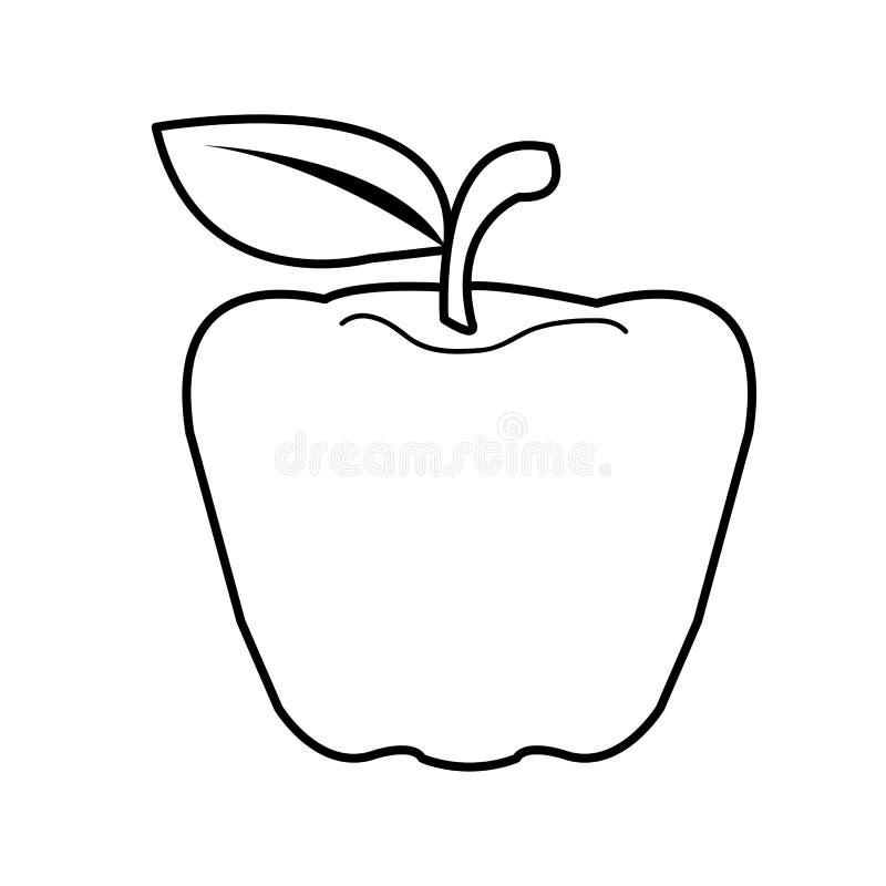 Apple-Karikaturvektor vektor abbildung