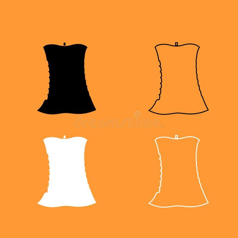 Apple-kern zwart-wit pictogram stock illustratie