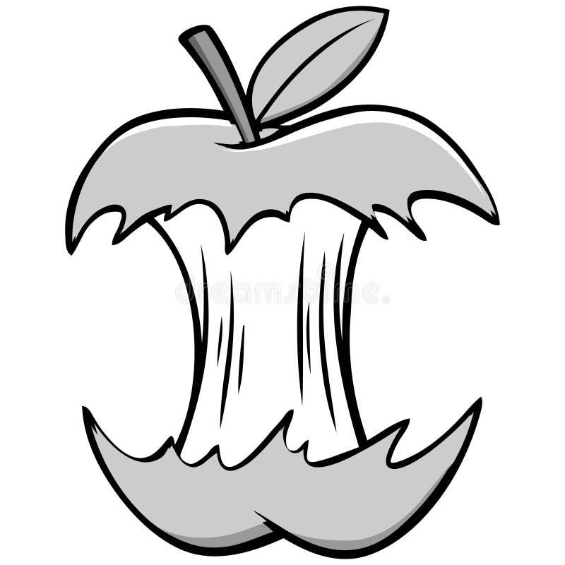 Apple-Kernillustratie royalty-vrije illustratie