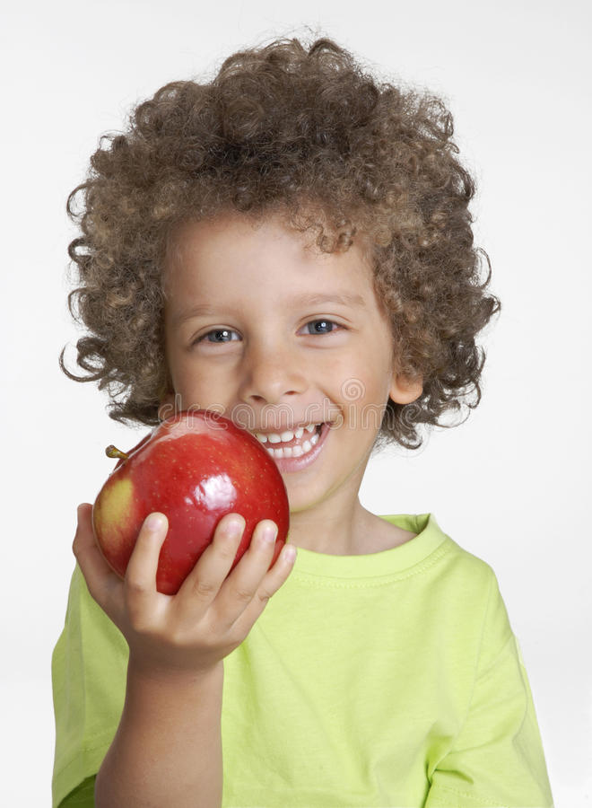 Free Apple Kid. Royalty Free Stock Photography - 28857537